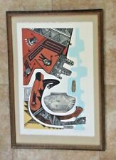 CHARLES (C.F.) LOVATO SANTO DOMINGO PUEBLO NEW MEXICO ARTIST- FRAMED LITHOGRAPH