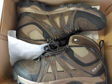 Salomon Evasion Mid GTX Mens Gore-tex Brown Waterproof Walking Boots Size 8.5