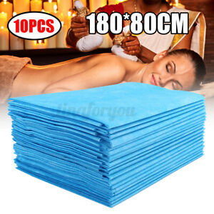 10pcs Disposable Bed Sheet Couch Cover For Massage Table 180cmX80cm Non-wove