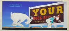 Original Bock Beer Billboard Advertising Painting Simon Vanderlaan Listed SV13