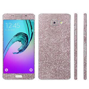 2 x Glitzerfolie Samsung Galaxy A3 2016 Bling Skins Sticker FullBody Schutzfolie