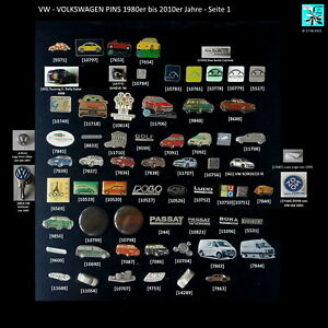 VW VOLKSWAGEN - VW/Audi original Pins AUSSUCHEN