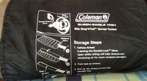 Coleman Queen Single High Inflatable Air Mattress, Pump NOT Included, Used ONCE