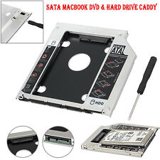 Universal Apple Macbook Pro Optical Bay 9.5mm 2nd SATA HDD Hard Disk Drive Caddy