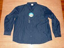 NWT Mens Columbia Omni-Shade UPF 50 dark blue button-down l/s shirt XXL