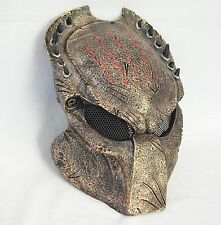 Copper Airsoft Paintball Full Wire Mesh Protection AVP Predator Mask Halloween