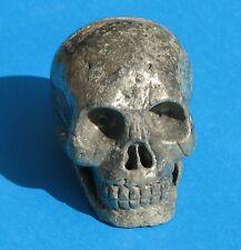 X Large Carved Pyrite Crystal Skull 1225g (PSK1)