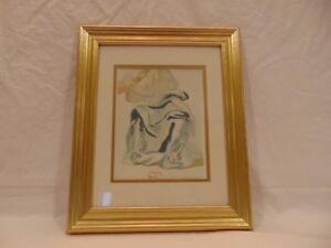 """Salvador Dali 1960 Divine Comedy Paradise #30 """"Blessed Prayer"""" Framed COA"""