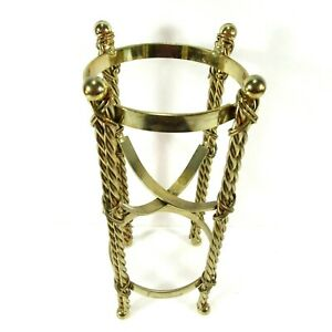 Stand Holder for Vase, Orb, Flower Pot or Tray Brass Look