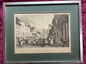A Steel engraving style picture in frame of Westgate, Canterbury