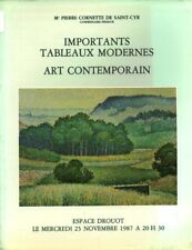 Catalogue de ventes Drouot importants tableaux modernes art contemporain book