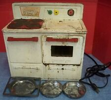 "Vintage Little Lady ""Heat-trol"" Oven Stove Electric With Cake Pans Works 1950s"