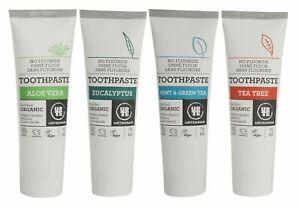 URTEKRAM ohne Fluorid Organisch Zahnpasten 75ml - Vegan - Mehrere Auswahl