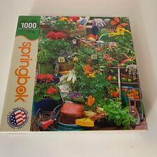 SPRINGBOK Jigsaw PUZZLE Garden Delights | 1000 Pieces Blooms Flowers Fruits Vegs