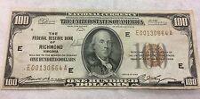 1929 $100 FEDERAL RESERVE OF RICHMOND,VA JONES/WOODS PMG-58CHOICE ABOUT UNC