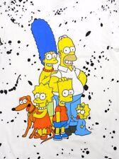 NEW - THE SIMPSONS Men's FAMILY - PAINT SPLATTER S/S TEE White T-SHIRT - XXL