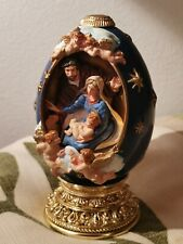 The Franklin Mint House of Faberge Egg Figurine The Nativity