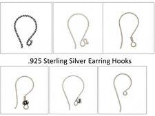 .925 Sterling Silver Earring Hooks assorted styles Earring Hook Shepard Hook