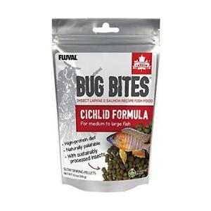 Fluval Bug Bites Cichlid Fish Food, Pellets for Medium to Large Sized Fish, 3.53