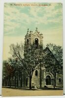 Kankakee Illinois Patrick's Catholic Church c1910 to Forest Park Ill Postcard I4