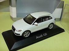 """AUDI Q5 Phase 1 Blanc """"Marbella 2008 Vielen Dank"""" SCHUCO 1:43"""