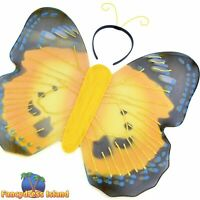 girls fancy dress costume accessory HEADBAND ANIMAL INSECT BUTTERFLY WINGS