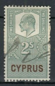 Cyprus Revenue Stamps Overprinted Edward
