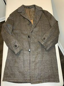 Vintage 1960s Lodenfrey Made in Munich Wool/Alpaca Loden Overcoat 48R