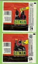 #D528.  TWO  2nd SERIES  1989 BATMAN CARD SET WAX WRAPPERS