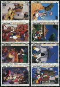 Lesotho - Disney Characters in Taiwan -Set of 8 Stamps + 2 s/s 12E-001