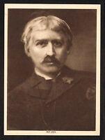 1910s Antique Vintage Bret Harte Poet Writer Portrait Art Photo Gravure Print
