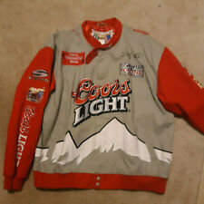 Sterling Marlin Coors Light Jeff Hamilton Twill Jacket Autographed
