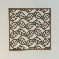 leaf Decorative Screening Square Radiator Grille MDF 3mm and 6mm sp14