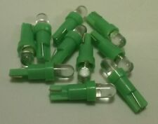 10x Green LED Dash Wedge Instrument Panel Light Bulb T5 70 73 74 Fits Acura