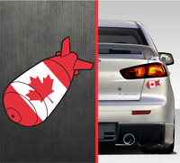 Canadian Flag F Bomb Bumper Sticker Vinyl Window Decal Canada Maple Leaf Sticker