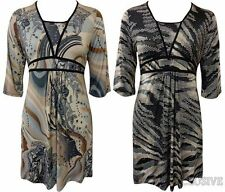 Polyester Party Tunic Dresses for Women