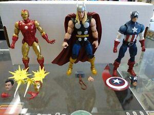 Hasbro Marvel Legends 80th Anniversary Iron Man, Thor, Captain America Loose Lot