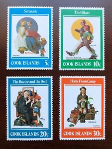 Cook Islands 1982 Scott #683-686 Paintings by Norman Rockwell Mint NH