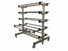 MAIMIN 10 ROLL MATERIAL PORTABLE ROLL HOLDER / RACK ON CASTERS