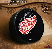 FRANK MAHOVLICH Signed Detroit Red Wings Puck - Toronto Maple Leafs