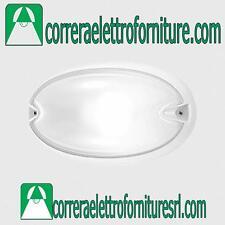 Plafoniera applique parete esterno design PRISMA CHIP OVALE 30 bianco E27 005780