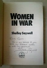 WOMEN IN WAR SHELLEY SAYWELL PRIMA EDIZIONE AUTOGRAFATA 1985