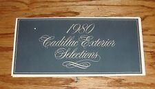 Original 1980 Cadillac Exterior Color Selections Sales Brochure 80 Eldorado