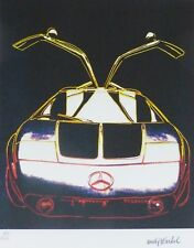 ANDY WARHOL MERCEDES C111 SIGNED & HAND NUMBERED 166/1000 LITHOGRAPH GULLWING