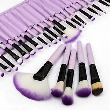 32PCS Soft Pro Superior Cosmetic Makeup Tools Brush Set Purple + Pouch Bag Case