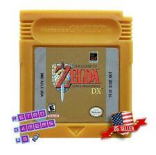 Legend of Zelda Link's Awakening DX  Game Boy Color GBC - Custom Gold Repro Cart