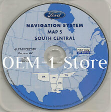 03 2004 2005 FORD EXPEDITION NAVIGATION MAP DISC CD SOUTH CENTRAL OK MS TN AR 4V