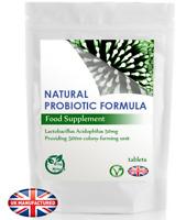 Probiotic Lactobacillus Acidophilus 500m CFU (30/60/90/120/180 Vegan Tablets) UK