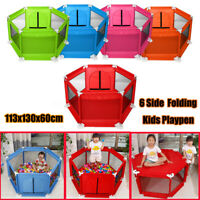 Foldable Children Baby Kids Playpen Play Pens Room Divider Toddler Creeping Yard