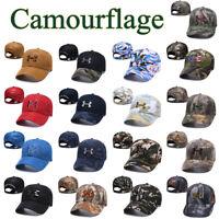 Camourflage Under Armour Golf Baseball Cap Embroidered Unisex Women Men Sun Hat